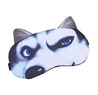 """Удобная и милая маска для сна """"3D Animal Faces - 8"""". Повязка для сна. Маска на глаза для сна. Маска для сну, фото 1"""