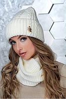 Женский комплект Арни (снуд и шапка), фото 1