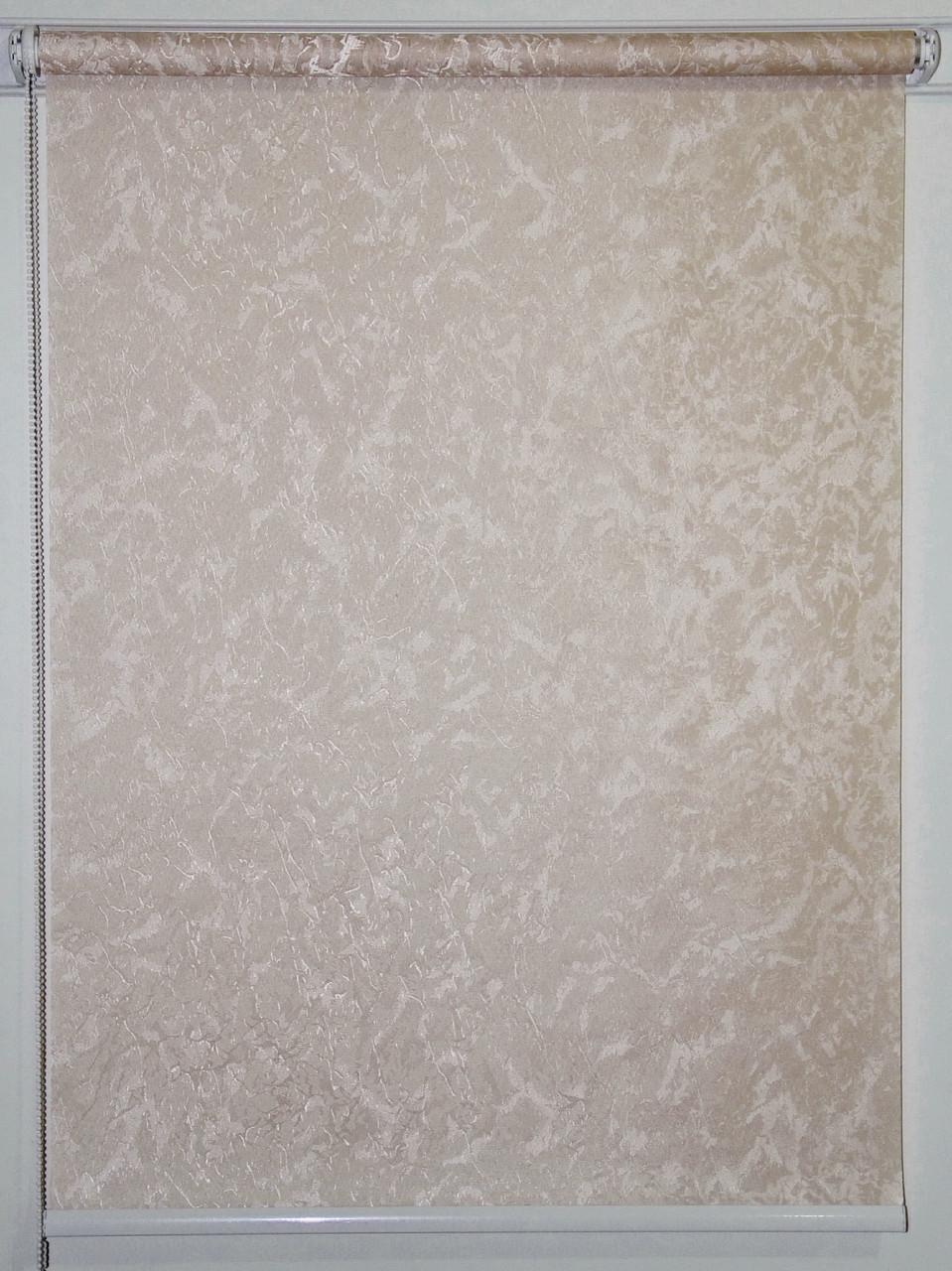 Готовые рулонные шторы 1350*1500 Ткань Miracle (миракл) Бежевый 03