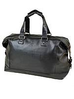 Дорожная сумка из искусственной кожи dr. Bond 8710 black на 2 отделения 3356