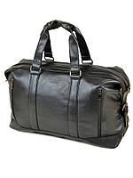 Дорожная сумка из искусственной кожи dr. Bond 8710 black на 2 отделения 3358