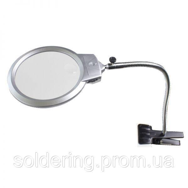 Настольная лупа Magnifier MG15122-1C, увел.- 2Х с Led