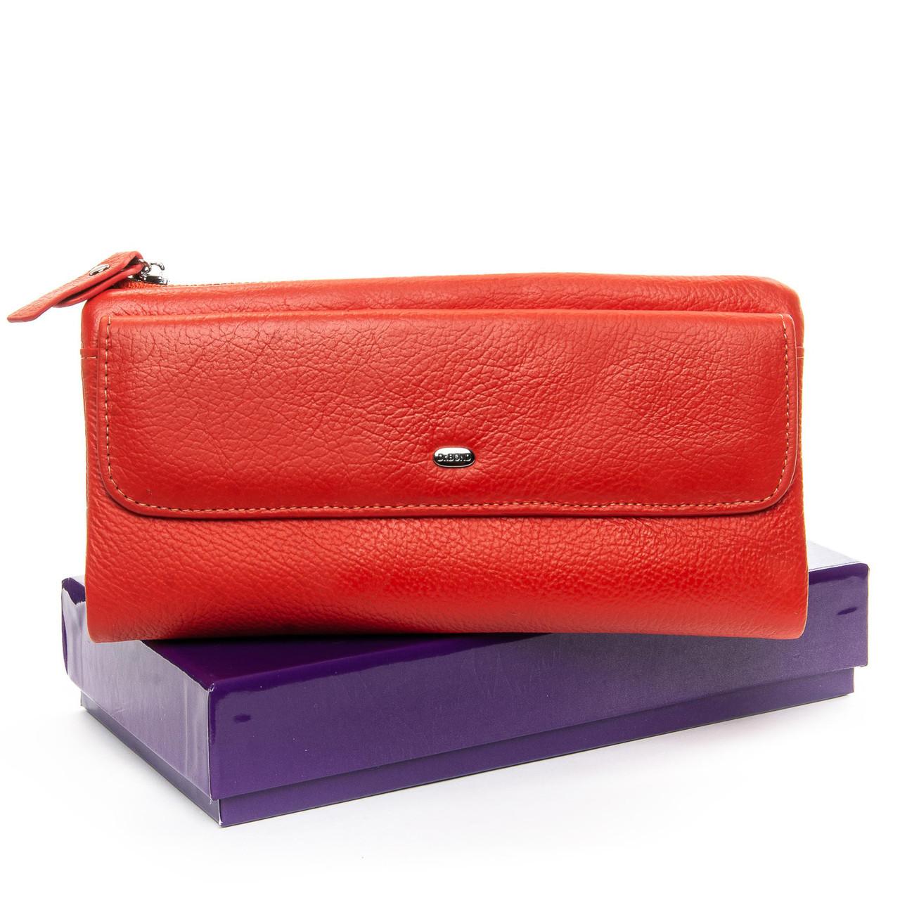 Большой кожаный кошелек DR. BOND разные цвета