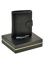 Большой мужской кожаный кошелек Bretton Black Edition под рептилию