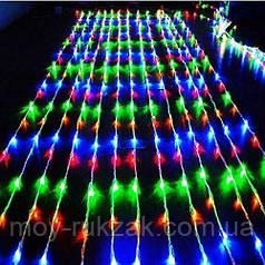 Гирлянда светодиодная водопад 240 LED, цветной 1,5×1,5 м