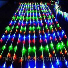 Гирлянда светодиодная водопад 320 LED, цветной 2,0×2,0 м
