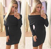 Женское теплое платье хомут ангора графит изумруд марсала черный фисташка 16ПНН