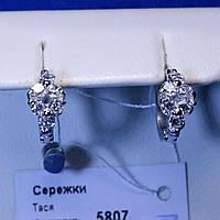 Серебряные серьги с цирконием Тася 5807