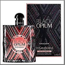 YSL Black Opium Pure Illusion парфумована вода 90 ml. (Ів Сен Лоран Опіум Пур Ілюзія)
