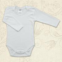 Боди с длинным рукавом для малышей Класичний Бетис интерлок 68 цвет белый