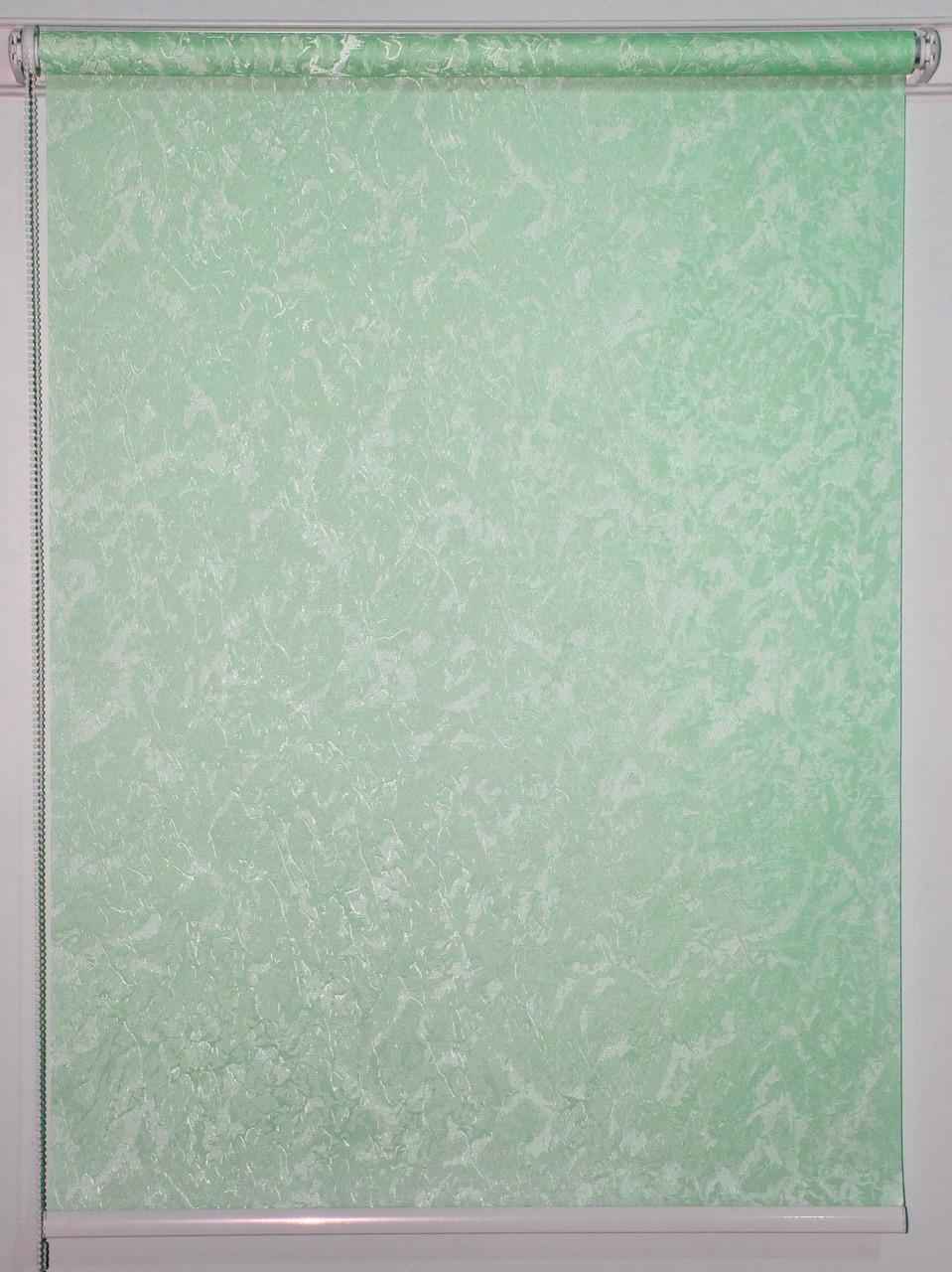 Готовые рулонные шторы 675*1500 Ткань Miracle (миракл) Ментол 07