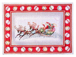 Салфетка гобеленовая с люрексом Новогодняя 45х35 см 716-006