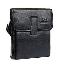 Кожаная сумка - планшет Bretton черного цвета