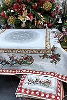 """Скатерть гобеленовая """"Новогодняя"""" 100х100 см 716-004"""