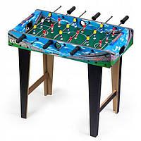 Детский настольный футбол.Деревянный игровой стол для настольного футбола 69x36 см. Экотойс