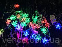 Гирлянда светодиодная Снежинка 5м/28 лампочек