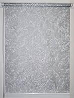 Готовые рулонные шторы 350*1500 Ткань Miracle (миракл) Серебро 09
