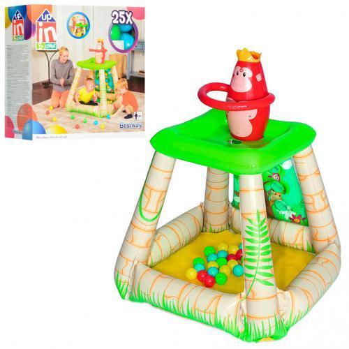 Ігровий центр BW 52266 Джунглі, кульки 25 шт., ремкомплект, від 2 років, кор., 89-86-107 див.