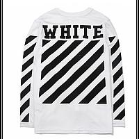 Свитшот в стиле OFF WHITE Fleece Logo Белая