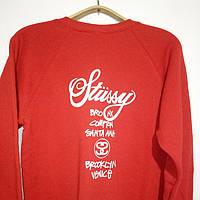 Свитшот красный мужской в стиле STUSSY ( Стасси ) Logo | Кофта