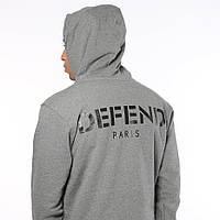 Толстовка Мужская Defend Paris Серая | Худи Defend мужская ( Мужская, Женская, Детская )