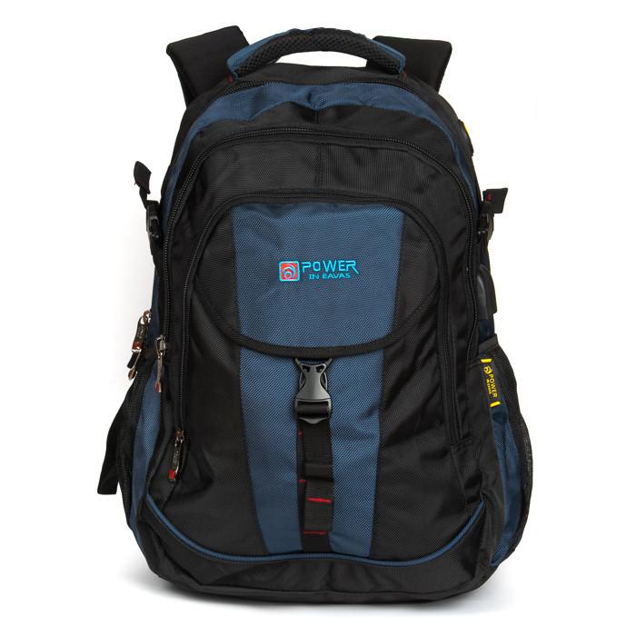 Большой городской рюкзак с плотной спинкой Power in Eavas 8518 на два отделения