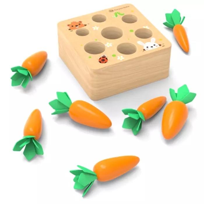 Развивающая игра в стиле Монтессори Морковки