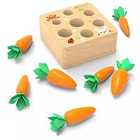 Развивающая игра в стиле Монтессори Морковки, фото 1
