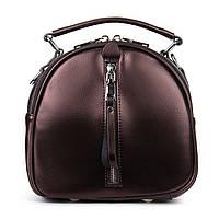 Клатч-рюкзак женский кожаный светло-коричневый, фото 1