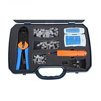 Набор инструментов Extools TL-195 для обжима 8P8C/6P6C/4P4C (RJ-45/12/11)