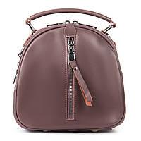 Рюкзак трансформер (сумка) женский натуральная кожа в цвете purple, фото 1
