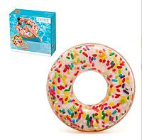 Надувной круг Пончик с посыпкой 56263SH INTEX 114 см