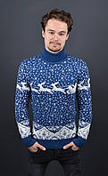 Мужской шерстяной свитер с оленями Trittico 8028