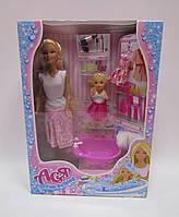 Набор с куклой Асей  'Веселое купание' 28 см блондинка и маленькой куклой 11 см(35105)