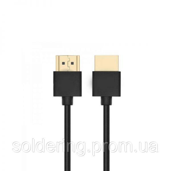 Шнур E-Cable HDMI - HDMI, 1.5м, v1.4, 3D, Hi-Speed, black (EC55521)