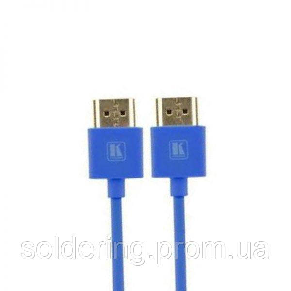 Шнур E-Cable HDMI - HDMI, 1.5м, v1.4, 3D, Hi-Speed, blue (EC55525)