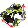 Трюковая машинка на радиоуправлении, вездеход Fever Buggy4WD 4x4 Зеленый, фото 3