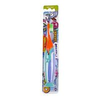 Зубная щетка Pierrot Акула, голубой с оранжевым