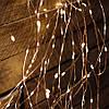 Гирлянда Конский хвост 200 led, Теплый белый (Золотой), 8 нитей, прозрачный провод, 1,5м., фото 5