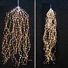 Гирлянда Конский хвост 200 led, Теплый белый (Золотой), 8 нитей, прозрачный провод, 1,5м., фото 7