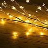 Гирлянда Конский хвост 200 led, Теплый белый (Золотой), 8 нитей, прозрачный провод, 1,5м., фото 10