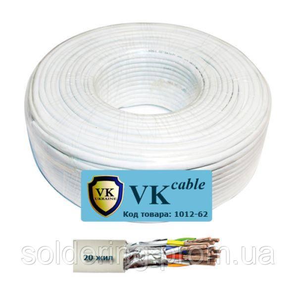 Кабель сигнальный VKcable 20 жил (7х0.22мм) в экране, CCA, 100м, белый