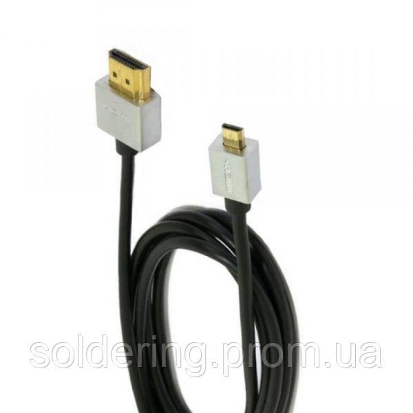 Шнур Comp HDMI - mini HDMI, 1м, Ultra Slim, v.1.4, gold (CP55544)