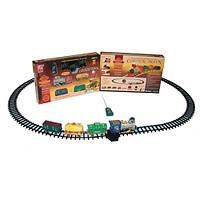 Залізниця 2420 радіокер., локомотив, вагон 3шт., дим, їздить, 21дет., муз., бат., кор., 70-43-10см.