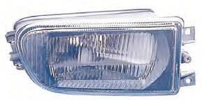 Левая фара противотуманная БМВ 5 E39 до 2000 года рифленая без лампы / BMW 5 E39 (1995-2004)