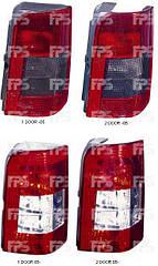 Левый задний фонарь кузов 2 DOOR дымчатая вставка без платы Пежо Партнер 97-05 / PEUGEOT PARTNER (1997-2002)