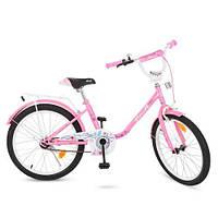 """Велосипед двухколесный Profi Flower 20"""" Y2081 розовый"""