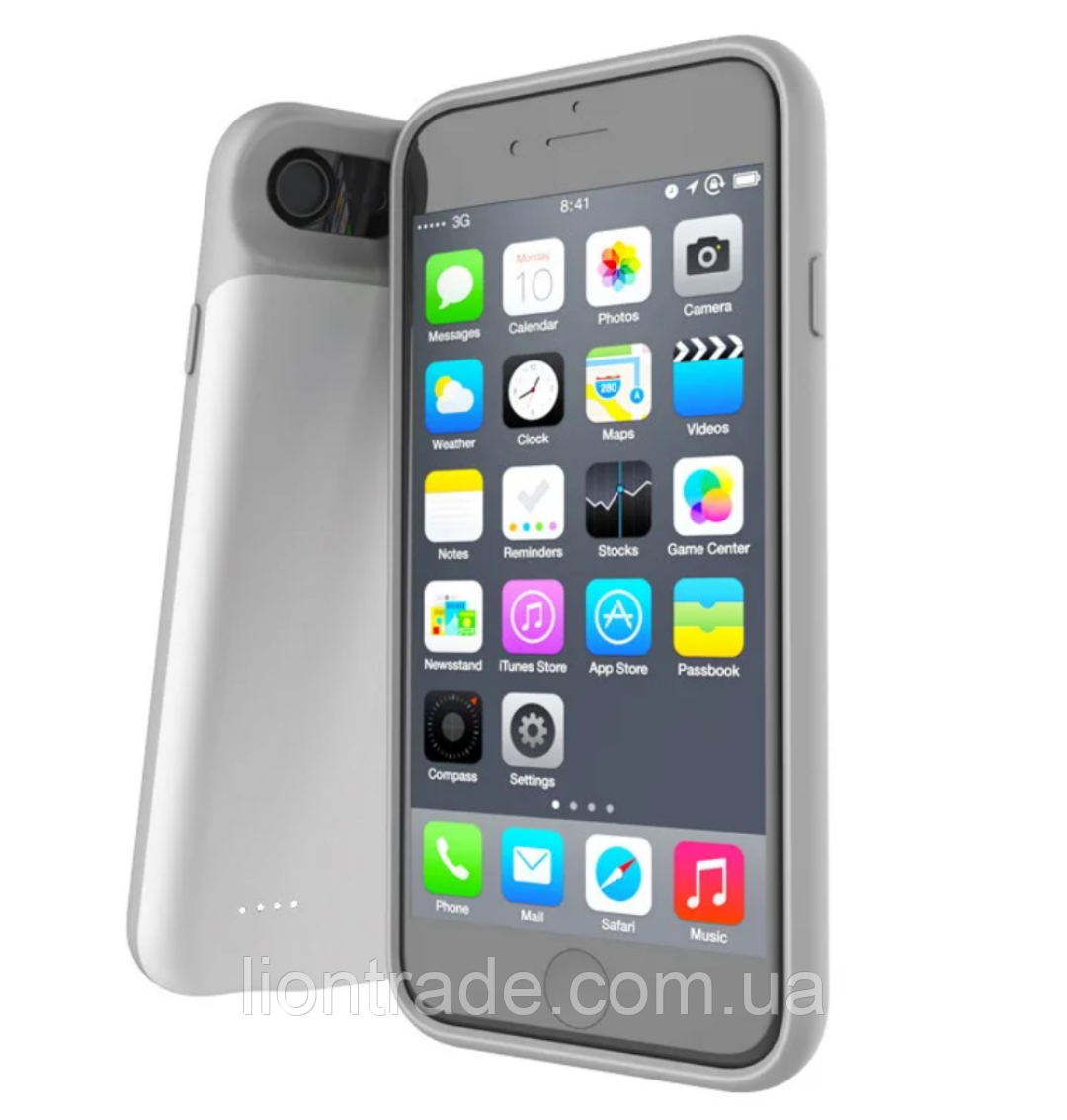 Чохол акумулятор AmaCase для iPhone 6s Plus Білий (4000 маг)