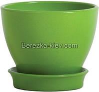 Горшок керамический глянец зеленый (диаметр 8,5 см.)