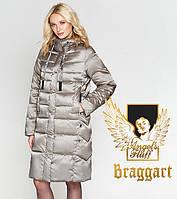 Воздуховик Braggart Angel's Fluff 29775   Теплая женская куртка бежевая, фото 1